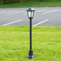 81cm Solar Powered LED Outdoor Garden Lantern Light Lamp Post Pathway Walkway