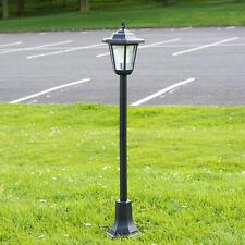 81cm Solar Powered LED Outdoor Garden Lantern Light Lamp Post Walkway Pathway