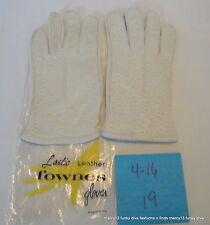 IOP Vintage Fownes Cream Color Wrist Length Deerskin Gloves Size B