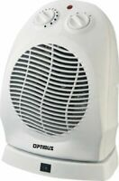 OPTIMUS H1382 HEATER FAN OSCILLATING THERMOSTAT PORTABLE