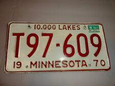 1970 vintage Minnesota license plate Metal USA