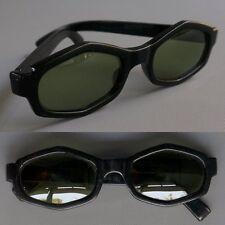 VTG Polaroid Cool Ray #107 Coquette Black Plastic Frame Green Lens Sunglasses