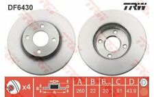 2x TRW Front Brake Discs Vented 260mm DF6430 - Discount Car Parts