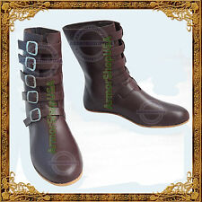 Medieval Style Festival shoes Viking Footwear Renaissance Leather Boots for men