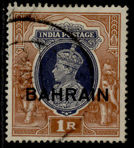 BAHRAIN GVI SG32, 1r grey & red-brown, FINE USED. Cat £3.5.