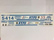1/18 NYPD Ford C/ Victoria Or 1/18 EXPLORER 2015. 88 PCT. Decals.PLEASE READ.NEW