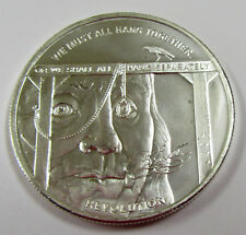 """HEROES - """"WE MUST ALL HANG TOGETHER"""" .999 Silver Art Round"""