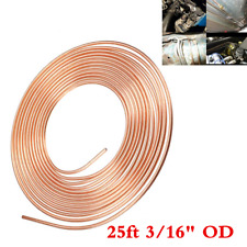 "Copper Nickel Brake Line Tubing Kit 3/16"" OD 25Ft For Car SUV Household+Fittings"