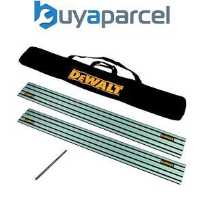 2x DeWalt DWS5022 1.5m Guide Rail for DWS520 Plunge Saws + Carry Bag + Connector