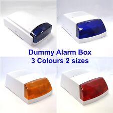 Flashing 2 LED Dummy Alarm Box Blue  RED Lens 2 Size 2-3 years battery life time