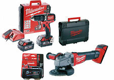 Milwaukee Kit M18 Blpp2c-503 trapano con percussione Smerigliatrice Brusshless