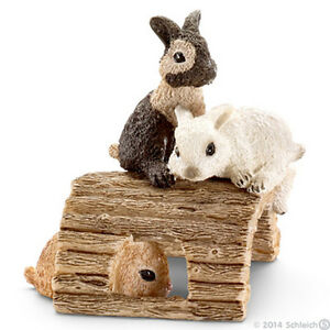 NEW SCHLEICH 13748 Baby Rabbits Playing - Farm Life - RETIRED