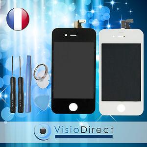 Ecran complet pour iPhone 4 ou 4S blanc ou noir  vitre tactile +ecran LCD +outil