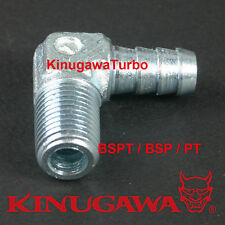 """Forged Steel Adapter Fitting 90 Deg 1/8 BSPT BSP Male - 1/8"""" Hose Barb C11-6"""