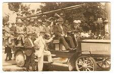 RPPC 1914 HUGE TOUR BUS AUTOMOBILE Munich Germany SURGEONS Real Photo Postcard