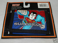NEW IN PACKAGE SUPERMAN KIDS BLUE TRIFOLD WALLET