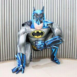 BALLON GONFLABLE BATMAN HOMME CHAUVE SOURIS MARVEL DECO ENFANT FETE 91x111cm !!!