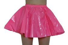 PVC Cercle Jupe L Brillant Rose Chaud Plastique Vinyle Thundercats Sissy Baggy Rockabilly