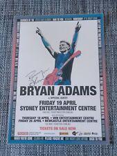BRYAN ADAMS - 2013 Australia Tour SIGNED AUTOGRAPHED Promo Poster - SYDNEY!