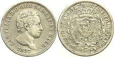 Casa Savoia - Carlo Felice - 2 Lire 1827 T BB - Rara Mir1036g Ag Silver