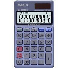 Casio SL320TE 12 Digits Displayed Pocket Calculator with Tax Calculations - Blue