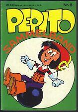 Pepito Sammelband Nr.6 von 1973 mit Bastelseiten Mini-Heft - Z1-2