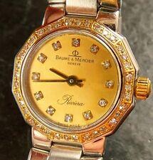 Baume & Mercier riviera brillante acero/oro 750 lujo señora reloj de pulsera