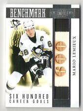 10-11 Panini Dominion BENCHMARK 600 Goals GU Stick Mario Lemieux #/99 +jersey ++