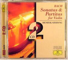 DG Bach HENRYK SZERYNG Sonatas & Partitas Solo Violin (2 CDs, 1996) 453 004-2