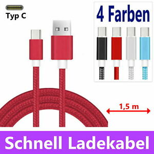USB TYP C Ladekabel Schnell Samsung S8 S9 S10 S20 A50 A51 A40 Datenkabel Huawei