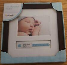 Pearhead Baby Hospital Id Bracelet and Photo Keepsake Frame, Black