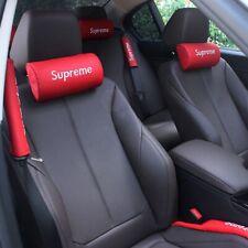 1Pcs BMW Car Seat Head Neck Rest Soft Foam Pillow Leather Cushion Pad HeadRest
