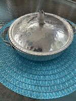 Vintage  Forged Hammered Aluminum Casserole Dish