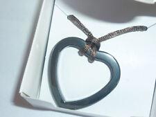 cristalloterapia PENDENTE CIONDOLO amuleto CUORE EMATITE COLLANA TRIBALE ETNICO