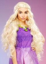 Womens Rapunzel Princess Long Curly Blonde Wig