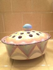 MacKenzie-Childs Bowl With Frog Flower Top