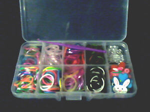 Colourful Loom Band, App 276pcs, Bands, S-Clips, Charms, Hook in a 10 comp case