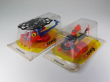 vintage Corgi Juniors 75 Spidercopter + 78 Batcopter aus Lagerfund NOS - MISB