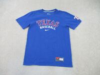 Nike Texas Rangers Shirt Adult Small Blue Red MLB Baseball Cotton Mens B66