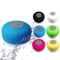 Handsfree Wireless Bluetooth Speaker Suction Car Shower Waterproof Music Mic