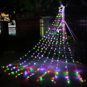 Outdoor Christmas Decorations Star Lights String,320 LED 16.4 ft Christmas Tree