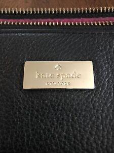 KATE SPADE NEW YORK PEBBLED LEATHER LARGE TOTE SHOULDER BAG BLACK