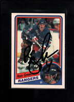1984-85 O-PEE-CHEE #141 RON GRESCHNER AUTHENTIC ON CARD AUTOGRAPH SIGNATURE AX17