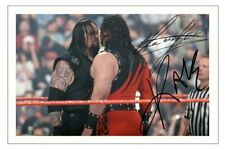 THE UNDERTAKER & KANE Signed Autograph PHOTO Gift Signature Print WWE WRESTLING