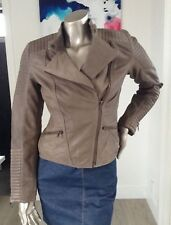 Ladies BRAND NEW 100% genuine leather biker jacket in size 8