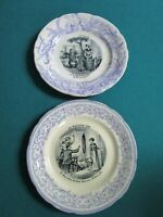 CHOISY-LE-ROI ANTIQUE POTTERY FRENCH CURIO CHINA PLATE INCLUDES STAND PICK 1