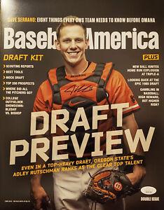 MLB #1 Prospect Adley Rutschman Autographed Baseball America 11×14 Photo