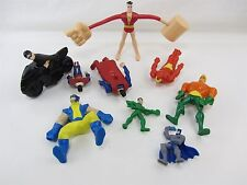 9 Lot - Super Hero Figures Toys Batman Superman Iron Man Robin Aquaman Fantastic