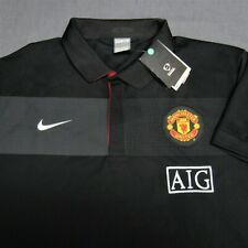 NIKE POLY FOOTBALL POLO  SHIRT--L--MANCHESTER UNITED--AIG----UNWORN!!--NEW!!TAGS