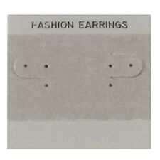 Earring Display Hanging Cards Pierced or Clip Ear Wires Gray Flocked Pack of 50